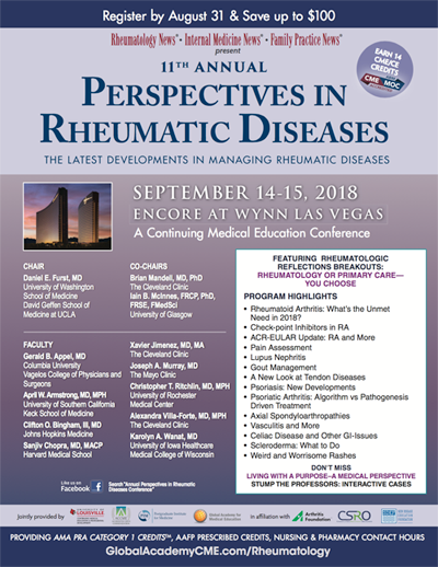 Download Brochure | 11th Annual Perspectives in Rheumatic Diseases