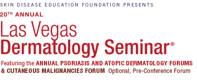 Welcome to SDEF's Las Vegas Dermatology Seminar and optional